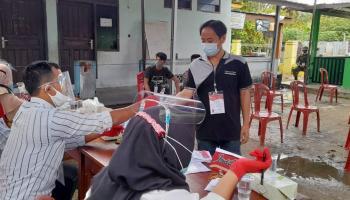 Unik, TPS di Desa Pedindang Dihias ala Pesta Ulang Tahun