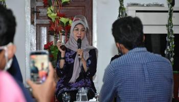 Di Belitung Melati Erzaldi Dengarkan Curhat Para Pelaku UMKM