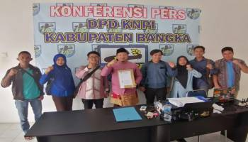 Didampingi 5 DPK KNPI, Camat Puding Besar ambil Formulir Bakal Calon Ketua KNPI Bangka