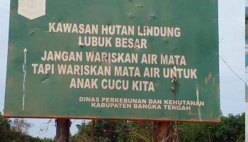 Warga Menyayangkan Tambang Beroperasi di Hutan Lindung
