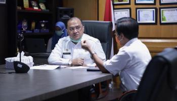 Di Hadapan Ketua KPK, Gubernur Katakan Siap Kontrol Pelaksanaan Penanganan Covid-19
