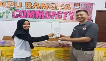 Dihadapan Warga Desa Dalil, KPU Bangka Sosialisasikan Pemilu 2019