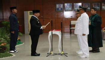Dilantik Gubernur, Molen-Sopian Resmi Pimpin Pangkalpinang