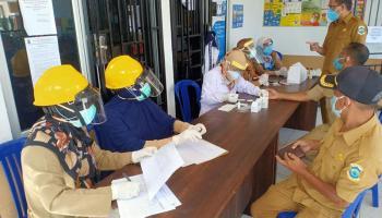 Dinkes Pangkalpinang Gelar Rapid Test di Kelurahan Rejosari dan Lontong Pancur
