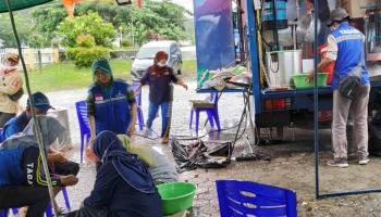 Dinsos Bangka Buka Posko Dapur Umum Bagi Korban Banjir