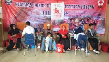 Donor Darah di Kecamatan Payung, 41 Kantong Berhasil Dikumpulkan