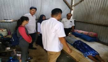 DP2KBP3A Bangka Bersama Kades Rebo Tangani Pasien Tidak Mampu