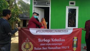 DPD IMM Bersama Polda Babel kembali Salurkan Bantuan Sosial