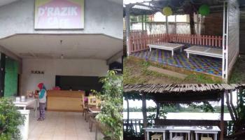 D'Razik Café Jadi Pilihan Bersantap Sambil Nikmati Danau Minyak Beltim