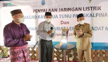Dukung Pelestarian Budaya Melayu, PLN Listriki Kawasan Masjid Kayu Tua Tunu