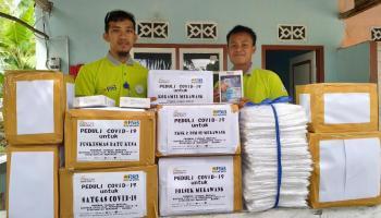 Dukung Pencegahan Corona, PJB & BECAK Babel Bantu Fasilitas APD di Kecamatan Merawang