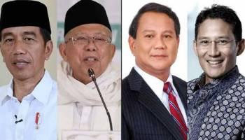Empat Hasil Survei Jagokan Jokowi - Ma'aruf Amin, Ini Hasilnya