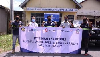 ERG PT Timah Ikut Bantu Korban Banjir Garut