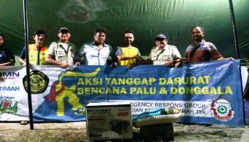 ERG PT Timah Serahkan Bantuan Logistik ke Korban Gempa Tsunami Palu dan Danggola