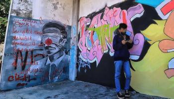 FOTO: Ada Mural Mirip Presiden Jokowi di Pangkalpinang
