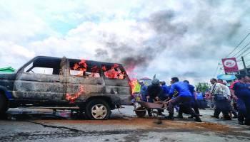 Foto Kejadian kebakaran SPBU Jalan AHMAD YANI