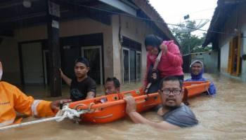 Foto kondisi Banjir yang Melanda Muntok saat ini