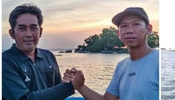Gandeng HNSI Bangka, Kementerian LHK Ambil Sampel Air Laut