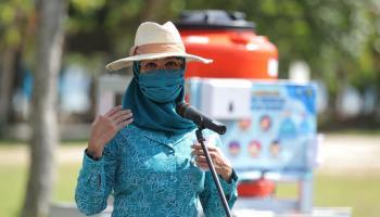 Gebrak Masker, Awali Kunjungan Hari Kedua Melati Erzaldi di Pulau Belitung