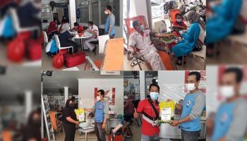Gelar Aksi Kemanusiaan, Honda Daya Motor Pangkal Pinang adakan kegiatan Donor Darah