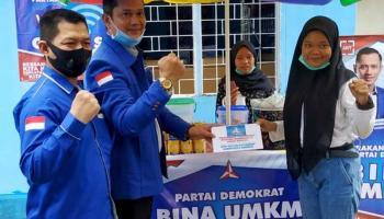 Gelar Dialog Interaktif, DPC Partai Demokrat Bangka Bina UMKM dan Bantu Pelajar