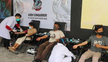 Gelar Donor Darah, Pemuda Kelurahan Sinarjaya Kumpulkan 65 Kantong