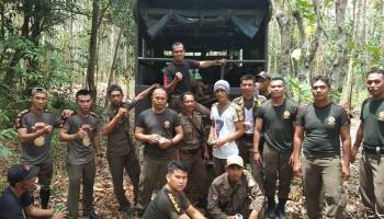 Gelar Patroli Rutin, Satpol PP Temukan Mesin TI di Tahura Menumbing
