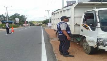 Gelar Razia KIR, 18 Kendaraan Umum TerjaringTim Disperkimhub Bangka Tengah