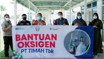 Giliran RSUD Dr. H.C. Ir. Soekarno Provinsi Kepulauan Bangka Belitung Terima Bantuan Oksigen dari PT Timah Tbk
