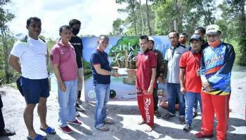 Gowes Bangka Setara, Cara Bupati Mulkan Promosikan Destinasi Wisata Kabupaten Bangka