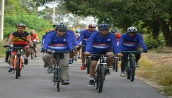 Gubernur Babel Gowes Bersama Forkopimda, Menyusuri Jalan Terbaik di Bangka Belitung