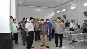 Gubernur Babel Patroli di Pelabuhan untuk Pastikan SOP Pencegahan Covid-19 Berjalan Baik