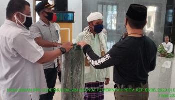 Gubernur Babel Serahkan 200 Paket Sembako Untuk Warga Desa Gudang