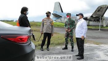 Gubernur, Danrem dan Kapolda Tinjau Rencana Hanggar Helikopter Agusta Westland AW169