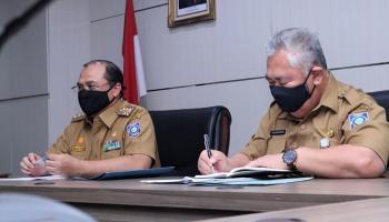 Gubernur Erzaldi Ajak Pemdes dan Kelurahan Aktif Lakukan Pencegahan Penyebaran Covid-19