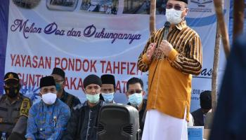 Gubernur Erzaldi Bantu Biaya Operasional Pondok Pesantren Tahfizd Quran Pekalen Batu
