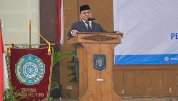 Gubernur Erzaldi: Jadi Pemimpin Bergeraklah dengan Data