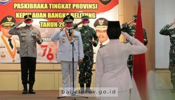 Gubernur Erzaldi Kukuhkan 32 Anggota Paskibraka Provinsi 2021