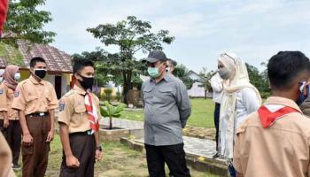 Gubernur Erzaldi Kunjungi SMK 1 Air Gegas Memastikan Siswa Miliki Jiwa Wirausaha