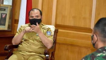 Gubernur Erzaldi Lanjutkan Pembahasan Rapid Test Massal Bersama Forkopimda Provinsi Babel