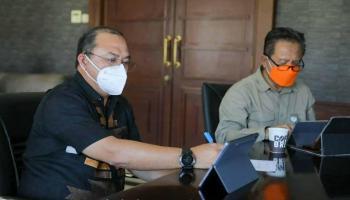 Gubernur Erzaldi Paparkan Kesiapan Penerapan PPKM Level IV ke Pemerintah Pusat