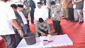 Gubernur Erzaldi Rosman Bersama Wapres KH.Ma'ruf Amin Letakkan Batu Pertama Pembangunan Gedung MUI
