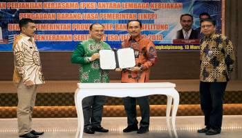 Gubernur Erzaldi Rosman Ungkap Syukur Atas Penandatanganan MoU PKS dengan LKPP