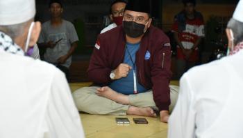 Gubernur Erzaldi Silahturahmi Ke Masjid Jami' Pangkalpinang, Bahas Rencana Rapid Test Massal