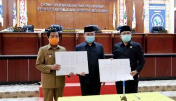 Gubernur Erzaldi Tanda Tangani Raperda APBD 2021