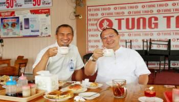 Gubernur Ngopi Bareng GM PLN Babel Sambil Diskusi Investasi dan Kelistrikan
