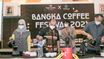 Gubernur Resmikan Bangka Coffee Festival 2021