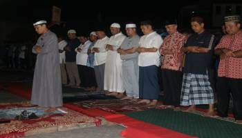 Gubernur Sholat Subuh Berjemaah dengan Siswa SMKN 4 Pangkal Pinang