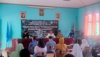 Guru dan Pelajar dapat Pelatihan Jurnalistik dari PWI dan Pokja Jurnalis Bangka Selatan