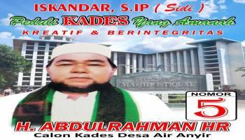 H. Abdul Rahman AR Janji Bawa Desa Air Anyir Lebih Baik